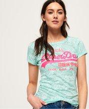 T-shirt Verde donna T-shirt Vintage Logo Burnout