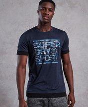 T-shirt Navy uomo T-shirt Gym Tech Longline