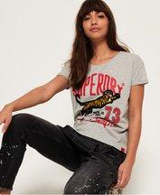 T-shirt Grigio Chiaro donna T-shirt boyfriend Tiger Days