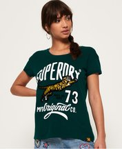 T-shirt Verde donna T-shirt boyfriend Tiger Days
