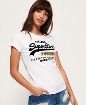 T-shirt Bianco donna T-shirt sportiva Premium Goods