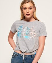 T-shirt Grigio Chiaro donna T-shirt annodata sul davanti The Real SDry