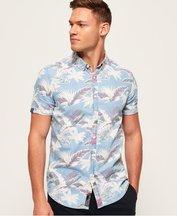 Camicia Blu uomo Camicia a maniche corte Miami Loom