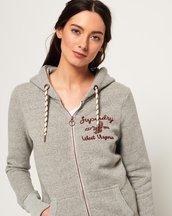 Felpa Grigio Chiaro donna Felpa con cappuccio e zip Rylee Embroidered