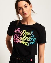 T-shirt Nero donna T-shirt annodata sul davanti The Real SDry