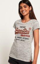 T-shirt Grigio Chiaro donna T-shirt a righe Shirt Shop