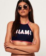 Costume Navy donna Top bikini 90's Summer Halter