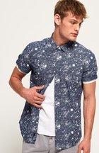 Camicia Blu uomo Camicia a maniche corte Poolside