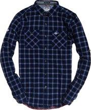 Camicia Blu uomo Camicia a maniche lunghe Grindelsawn