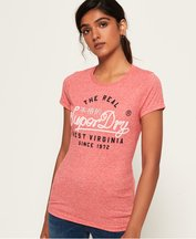 T-shirt Rosso donna T-shirt Western Rope