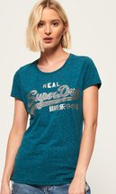 T-shirt Blu donna T-shirt Rugged con logo Vintage