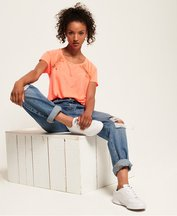 T-shirt Corallo donna T-shirt in pizzo Elizabeth