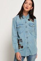 Camicia Blu donna Camicia in denim Oversize