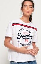 T-shirt Bianco donna T-shirt con logo Urban