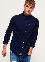 Camicia Blu uomo Camicia a spina di pesce Ultimate