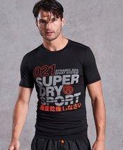 T-shirt Nero uomo T-shirt Active Graphic