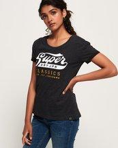 T-shirt Grigio Chiaro donna T-shirt boyfriend slim con logo Classic ricamato