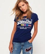 T-shirt Navy donna T-Shirt Premium Goods Puff