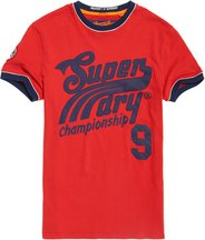 T-shirt Rosso uomo T-shirt Pitch Field Ringer