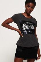 T-shirt Grigio Scuro donna T-shirt boyfriend slim con paillettes Premium