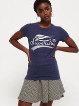 T-shirt Blu donna T-shirt goffrata High Flyers