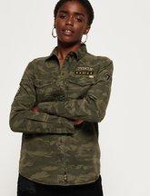 Camicia Verde donna Camicia militare twill Reina