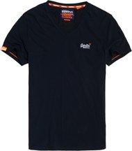 T-shirt Navy uomo T-shirt con scollo a V e ricamo Vintage Orange Label