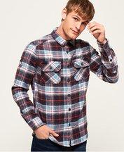 Camicia Blu uomo Camicia zigrinata Merchant
