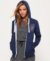 Felpa Navy donna Felpa con zip e cappuccio Track& Field