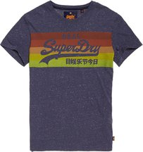 T-shirt Blu uomo T-shirt con logo Vintage Cali Stripe