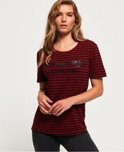 T-shirt Rosso donna T-shirt a righe Ava