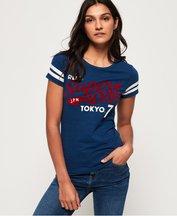 T-shirt Blu donna T-shirt Retro