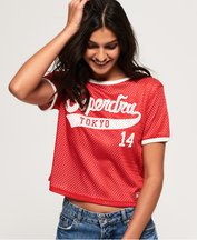 T-shirt Rosso donna T-Shirt double-face Clarrie