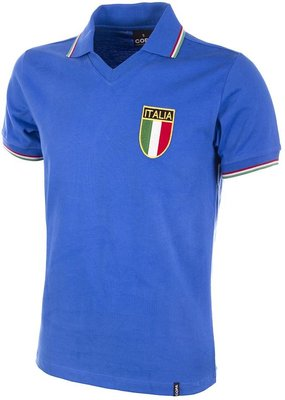Italy World Cup 1982 Short Sleeve Retro Football Shirt Copa Classics