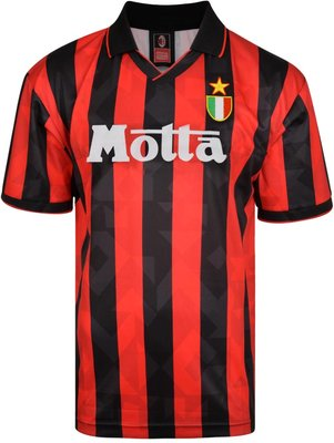 Score Draw AC Milan 1994 Retro Football Shirt Score Draw