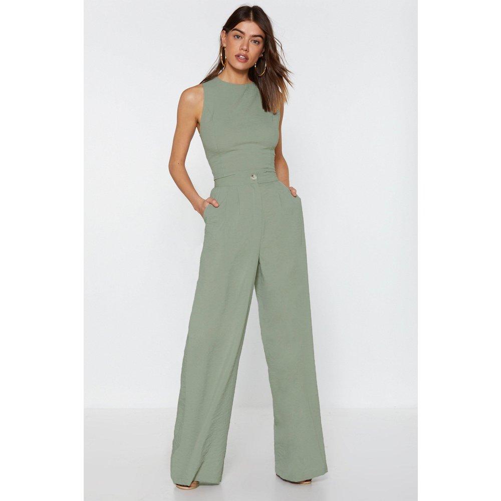 Womens Pantalon Large Taille Haute Je Passe Aux Choses Sérieuses - Nasty Gal - Modalova