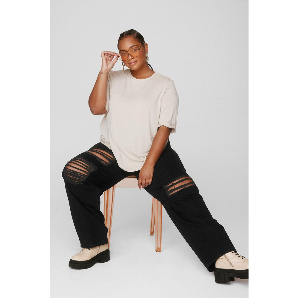 Womens Grande Taille - T-Shirt Basique Ample Je Suis Amplement Stylée - Nasty Gal - Modalova