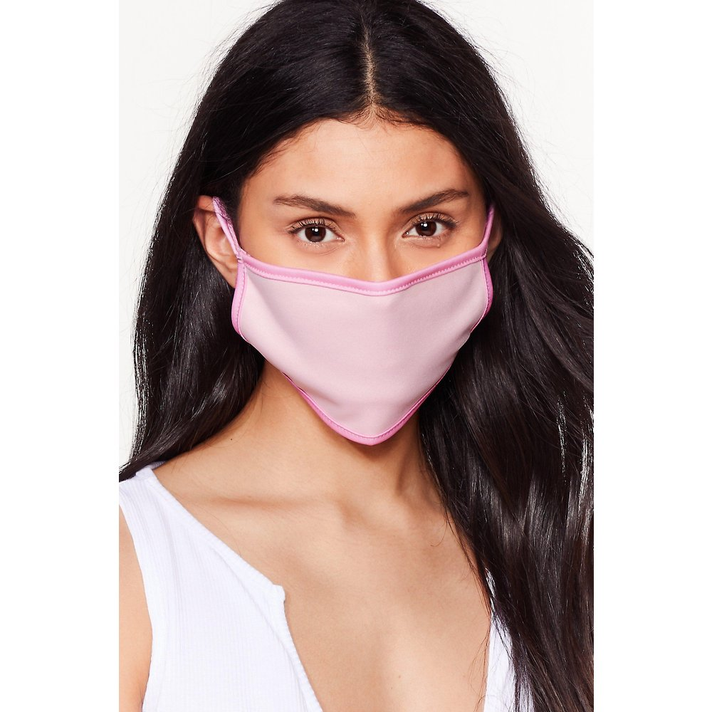 Womens It'S Up Two-Tone You Fashion Face Mask - Nasty Gal - Modalova