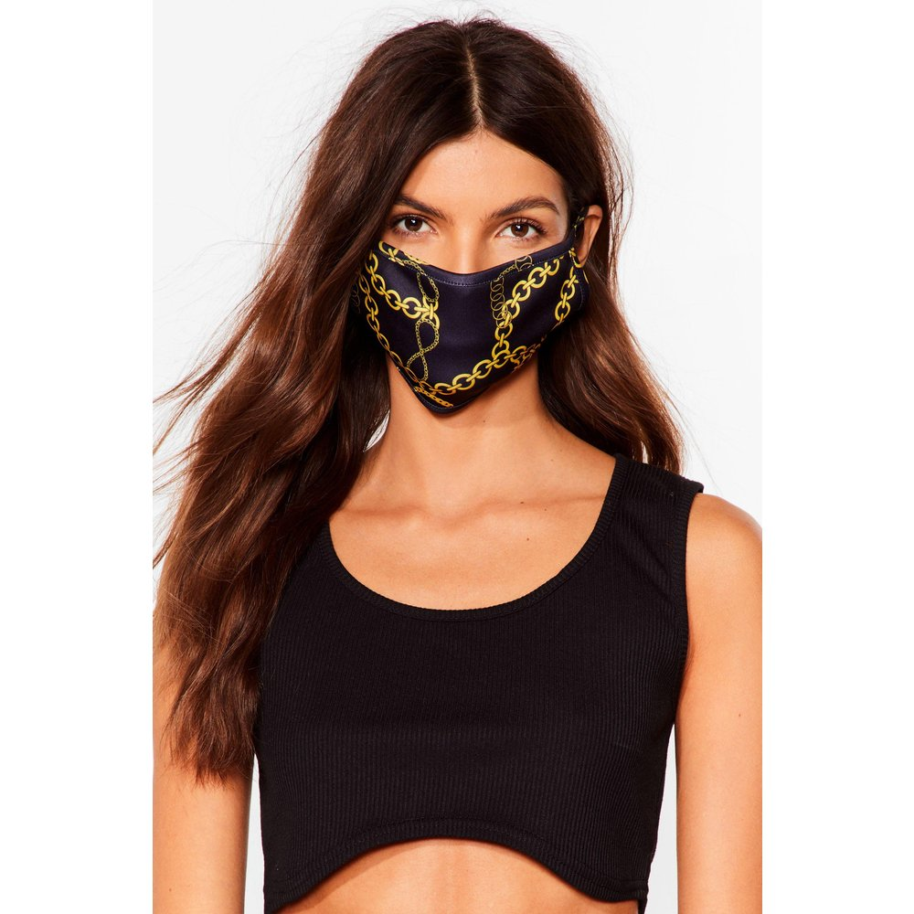 Womens Say It To My Face Chain Fashion Face Mask - Nasty Gal - Modalova