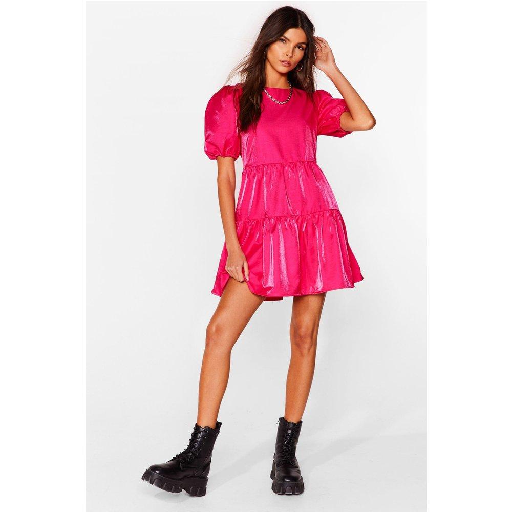 Womens Taffeta Mini Smock Dress - Nasty Gal - Modalova