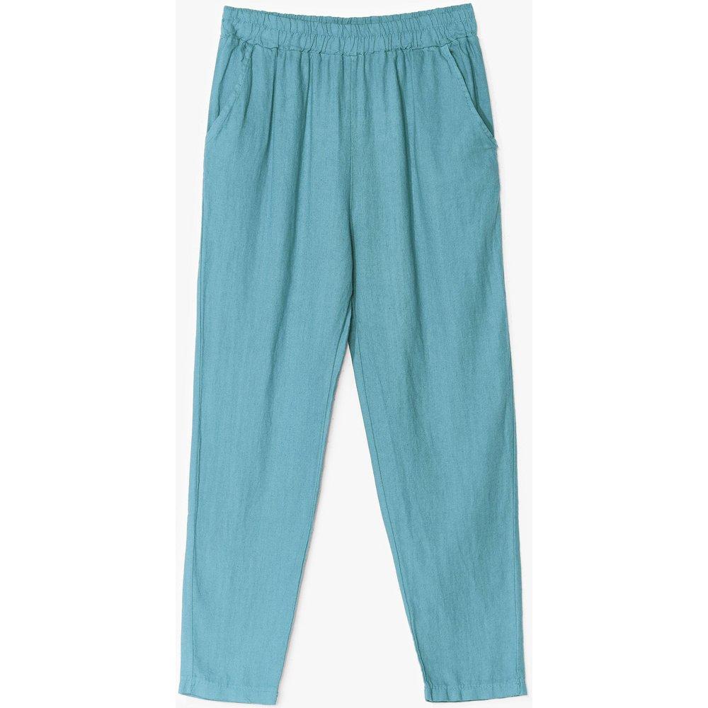 Womens Pantalon Large En Lin - Nasty Gal - Modalova