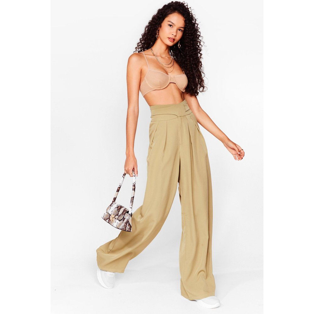 Womens Pantalon Large Taille Haute Woman'S World - Nasty Gal - Modalova
