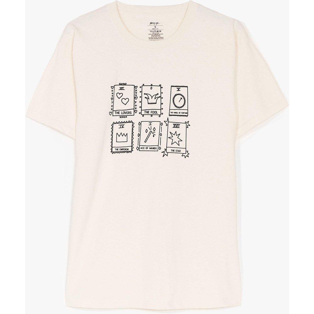 Womens T-Shirt À Impression Tarot - Nasty Gal - Modalova