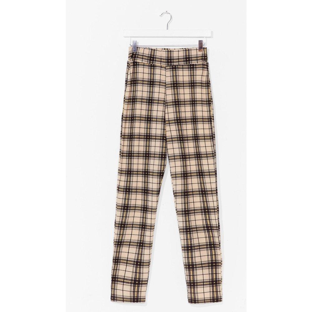 Womens Pantalon Taille Haute À Carreaux - Nasty Gal - Modalova