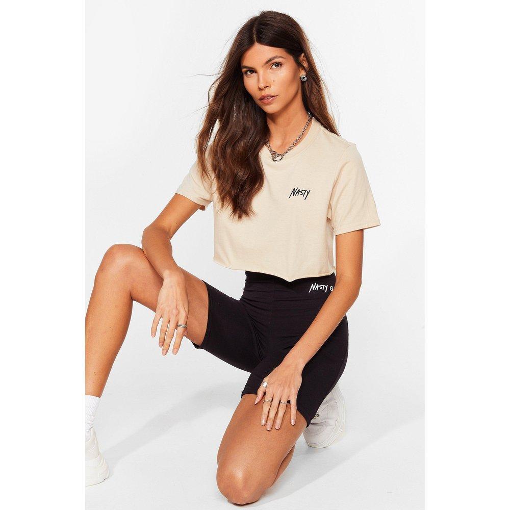 Womens T-Shirt Court À Logo - Nasty Gal - Modalova