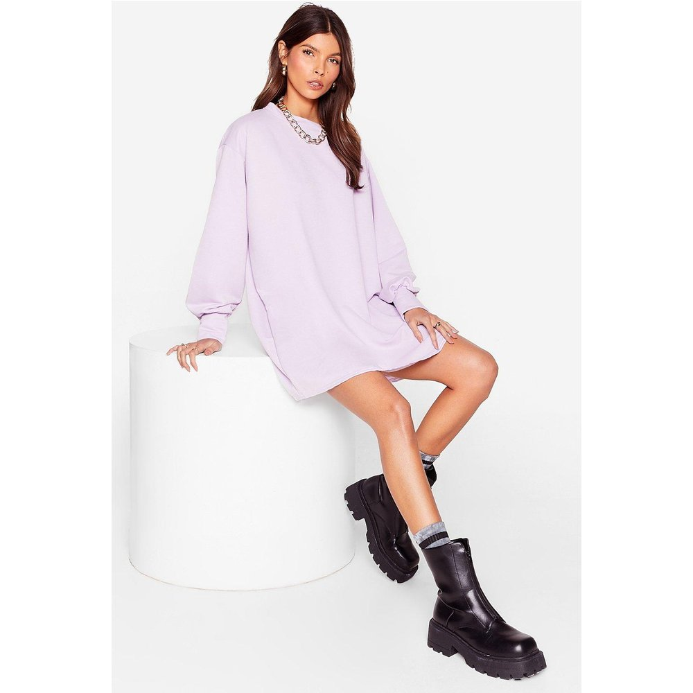 Womens Move Oversized Sweatshirt Dress - Nasty Gal - Modalova