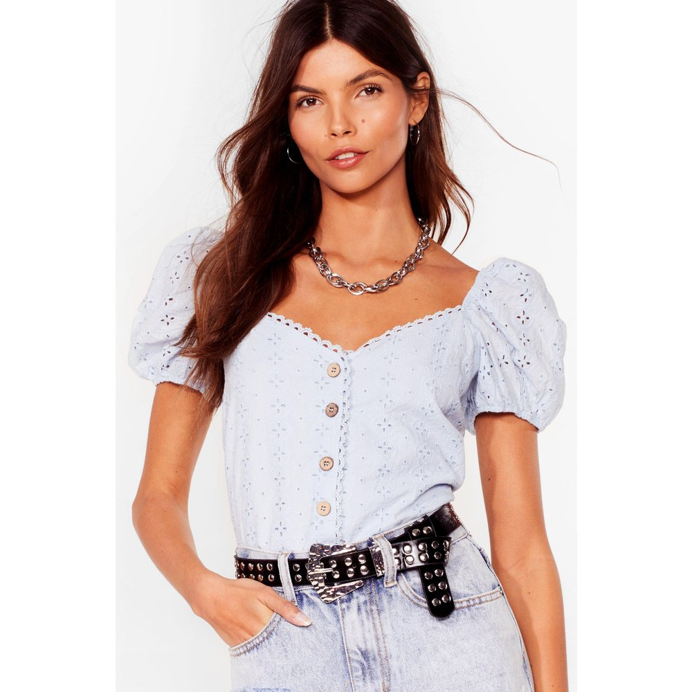 Womens Top En Broderie Anglaise À Manches Bouffantes I See Your Trou Colors - Nasty Gal - Modalova