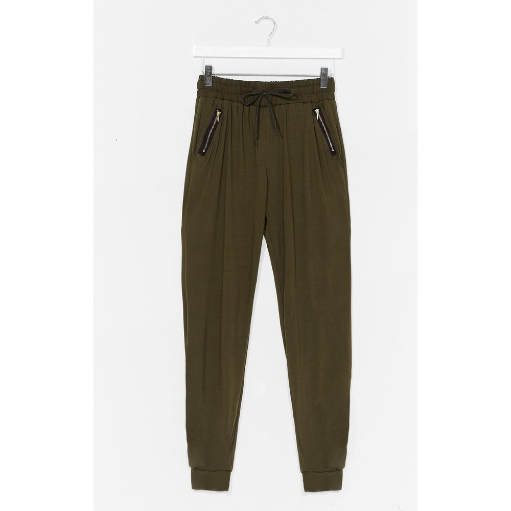 Womens Pantalon De Jogging À Zips Je Me La Joue Détente - Nasty Gal - Modalova
