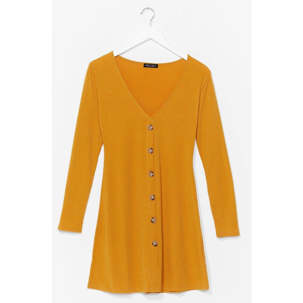 Womens Hot Button The Trail Ribbed Mini Dress - Nasty Gal - Modalova