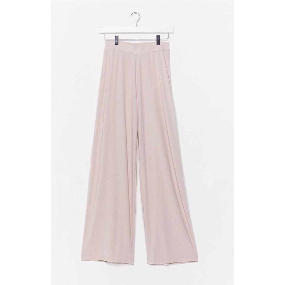 Womens Pantalon Large Côtelé Taille Haute Je Suis Largement Passée À Autre Chose - Nasty Gal - Modalova